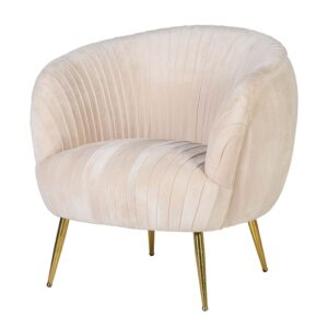 'Velvet Pleated Chair