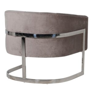Taupe Curved Chair